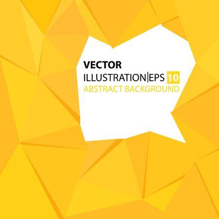 triangular abstract background yellow frame Reklamní fotografie - 129443007