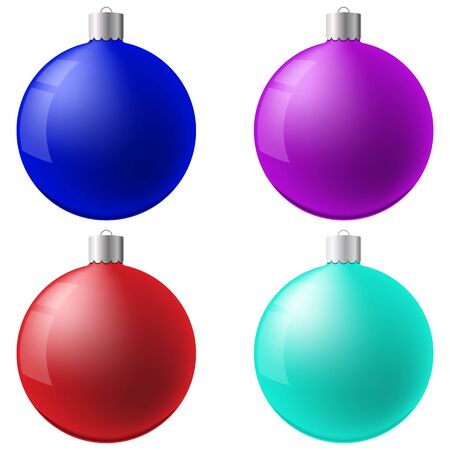 Christmas ball set. New Year concept. Vector Illustration Illustration