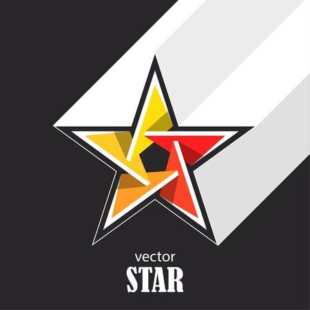 Star flat abstract symbol. Popularity concept. Vector Illustration Ilustração