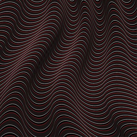 A black and red optical illusion. Vector Illustration Illustration