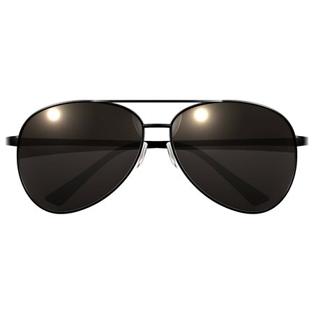 Black Sunglasses on a white background. Vector Illustration