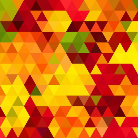 Autumnal triangle abstract background Ilustrace