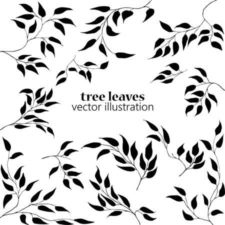 Autumn leaves set. Vector Illustration
