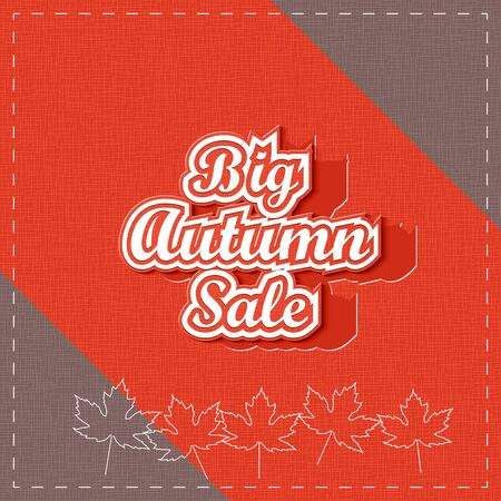 Big Autumn Sale. Paper lettering. Vector Illustration