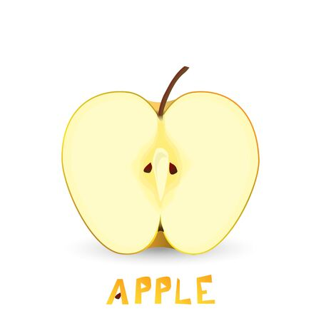 Honey apple. Vector Illustration