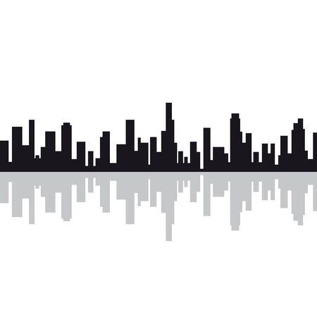 City silhouette  イラスト・ベクター素材