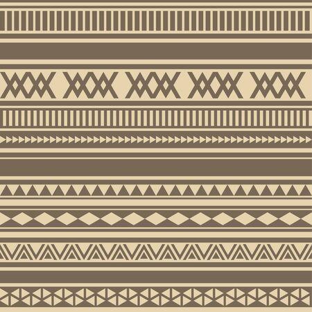 Geometric seamless pattern brown coffee chocolate vintage