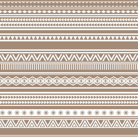 Geometric seamless pattern brown cacao vintage