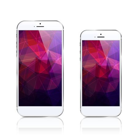 phone triangular abstract background Ilustrace