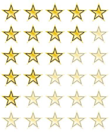 Star rating for 0 - 5 stars. Best rating. Vector Illustration