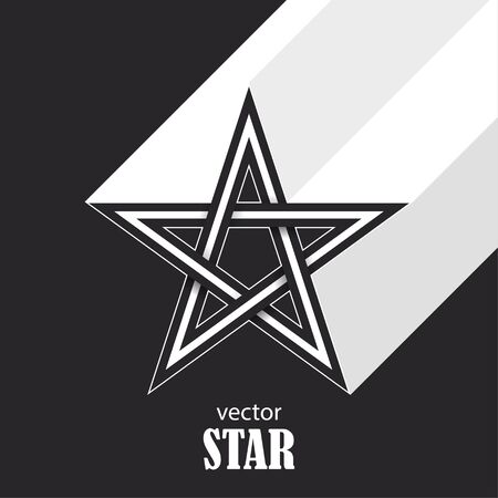 Star flat abstract symbol. Popularity concept. Vector Illustration 向量圖像