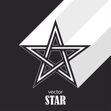 Star flat abstract symbol. Popularity concept. Vector Illustration Illustration