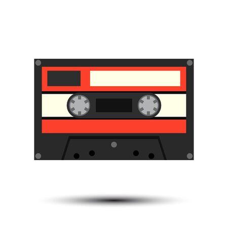 Audiocassette. Vector Illustration Illustration