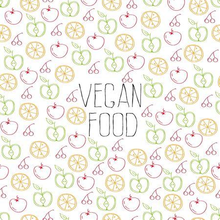 vegan food seamless pattern