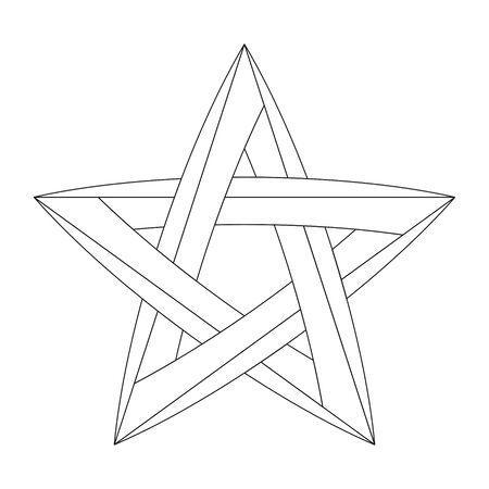 Impossible star for Your project. Vector Illustration
