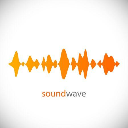 Sound wave. Design element. Vector Illustration