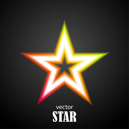 Glow particolored stars. Vector Illustration 向量圖像