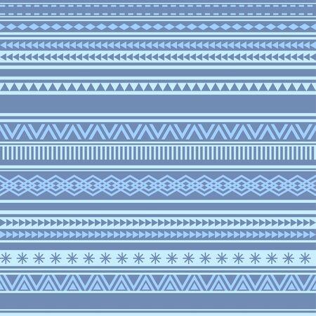 Geometric seamless pattern blue winter vintage