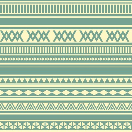 Geometric seamless pattern green and yellow vintage