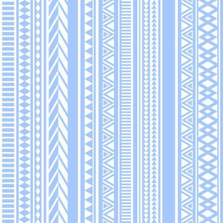 Geometric seamless pattern blue vintage