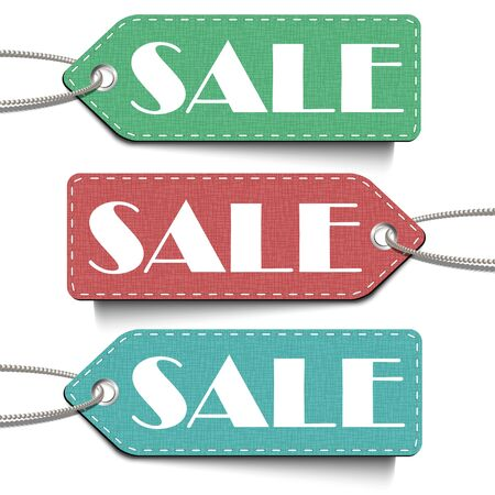 Sale tags set. Tags of sale isolated on the white background. Sale Vector Illustration 向量圖像