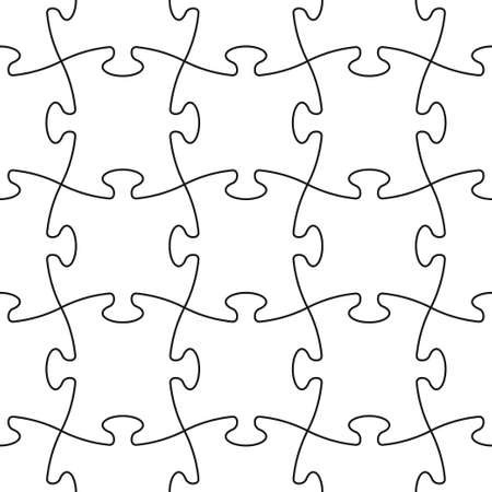 Puzzle seamless pattern or puzzle template on white background. Board game puzzle for your business project. Vector illustration
