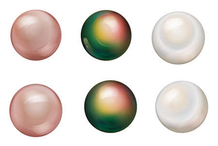 pearly: Pearls Set Illustration