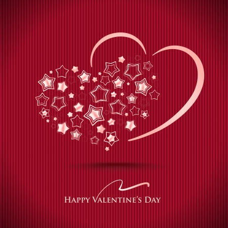 Stylish card with 2 hearts  Valentine Stock Vector - 17689918