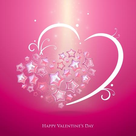 Abstract hearts illustration