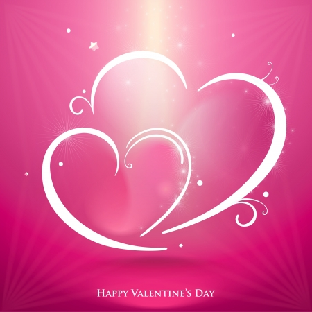 Abstract hearts illustration Stock Vector - 17689914