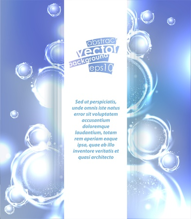 Vector abstract background with bubbles elements.
