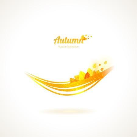 Golden smile of fall. Abstract illustration. Illustration