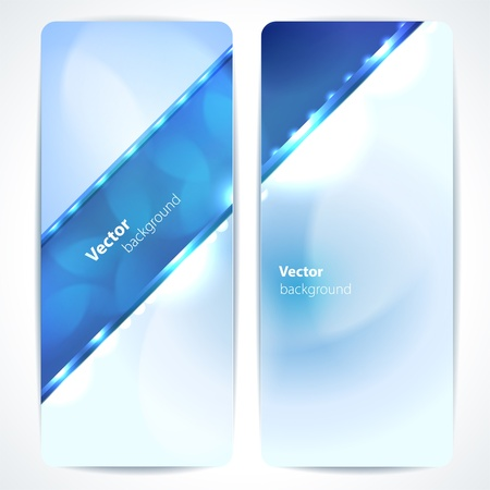 Set of abstract blue banners.