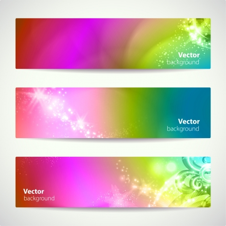 Set of abstract colorful banners.