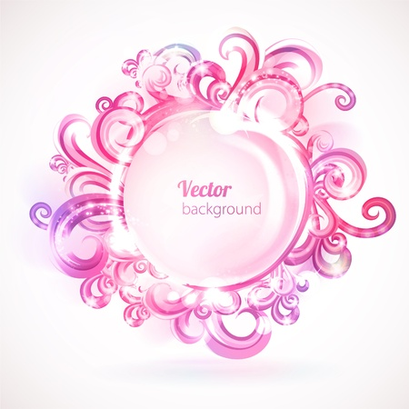 Vector abstract frame with swirly design element