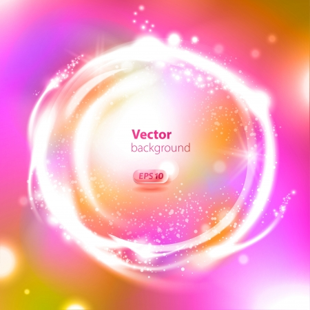 Glossy Sphere. Abstract Background Illustration