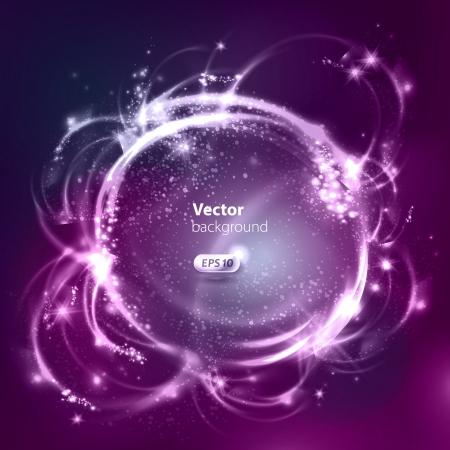 Vector glanzende bellen Abstracte achtergrond Stock Illustratie