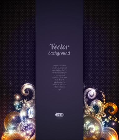 Vector abstract background with swirly design element