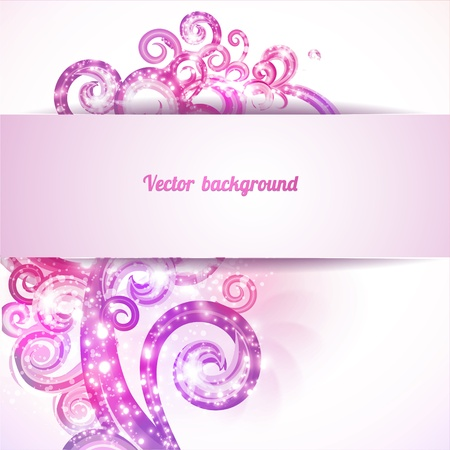 Glamour background with vintage design elements. Brochure cover template. Stock Vector - 22000457