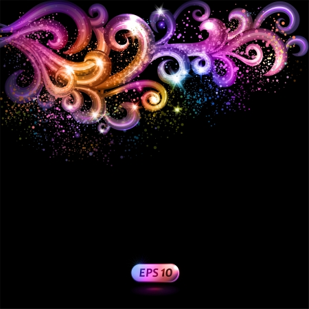 the fairy tale: Abstract background with colorful swirls.