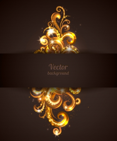 Abstract background with swirly design element