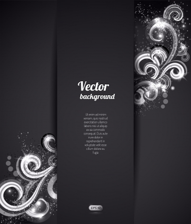 abstract background with swirly design element.