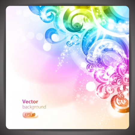 Abstract background with colorful swirls.