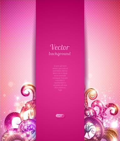 Glamour vector con los elementos de diseño vintage. Plantilla cubierta del folleto.