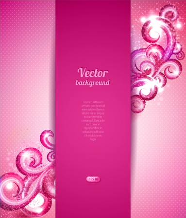Glamour vector background with vintage design elements. Brochure cover template.