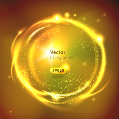 Vector Glossy Sphere  Abstract Background Vector