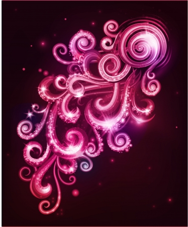 Decorative abstraction with swirls  Vector illustration  Illustration