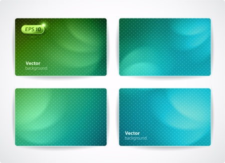 Set of vector business cards  credit or discount cards
