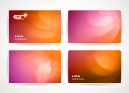 credit card: Set of colorful vector business cards  credit or discount cards