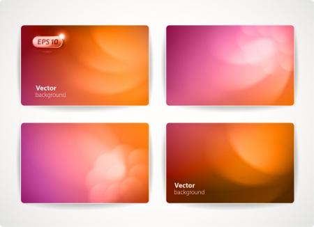 Set van kleurrijke vector visitekaartjes creditcard of kortingskaarten